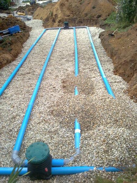 Mise en place d'un assainissement autonome dans la Drôme