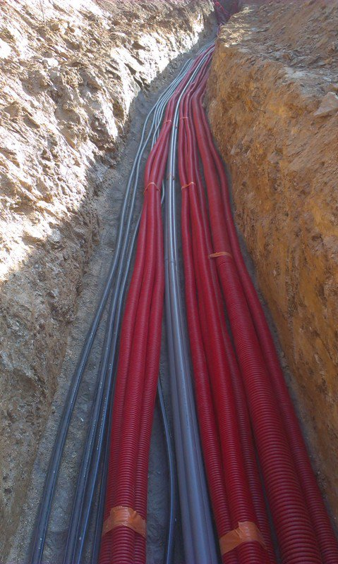 Mise en place de réseaux secs dans la Drôme
